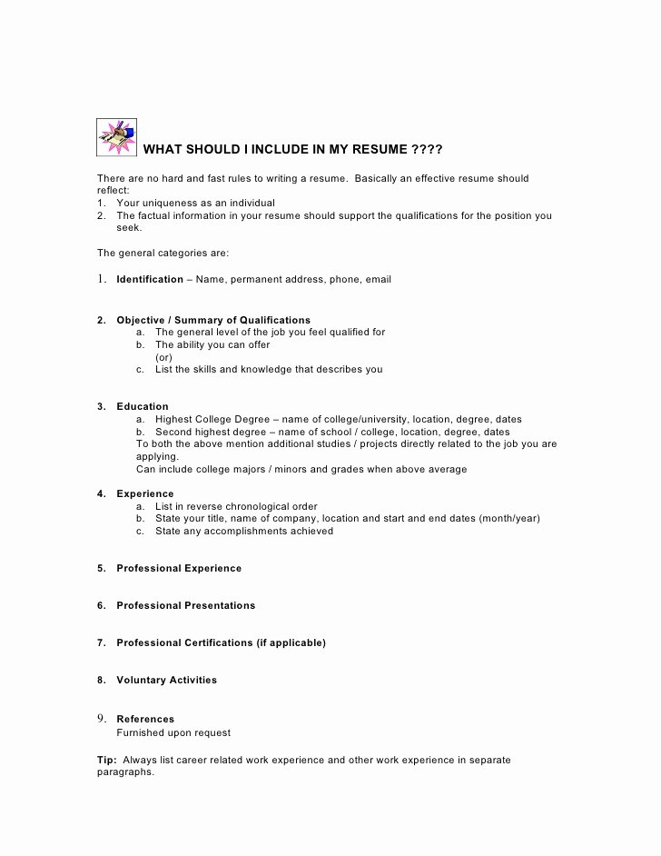 Resume Writing Rules Writing Using Previous Student