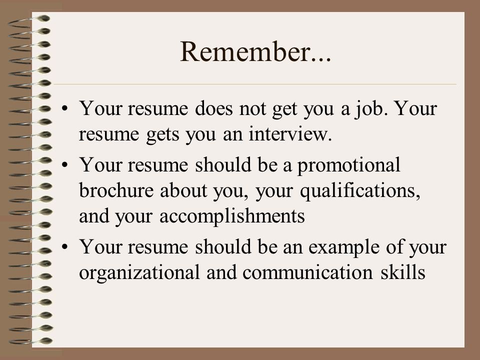 Résumés A Section by Section Guide to Writing Your