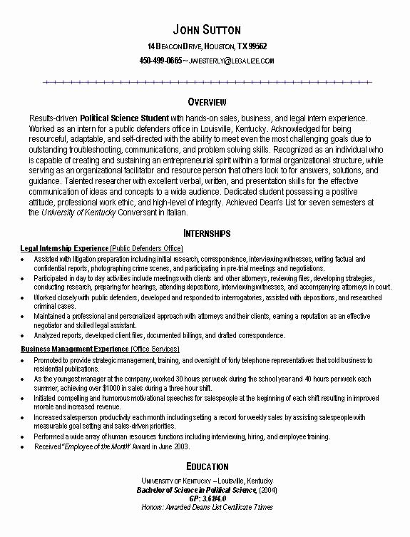 Resumes for College Students Seeking Internships Best