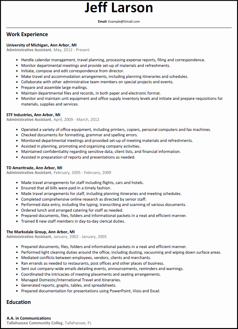 Resumes for Experienced Executive assistant – Perfect