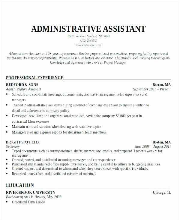 Resumes for Fice assistants Example Resume