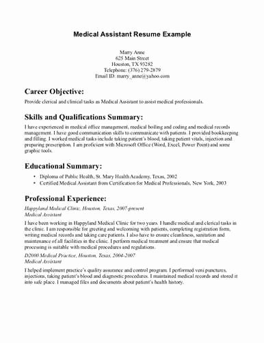 Resumes for Medical assistant Jobs