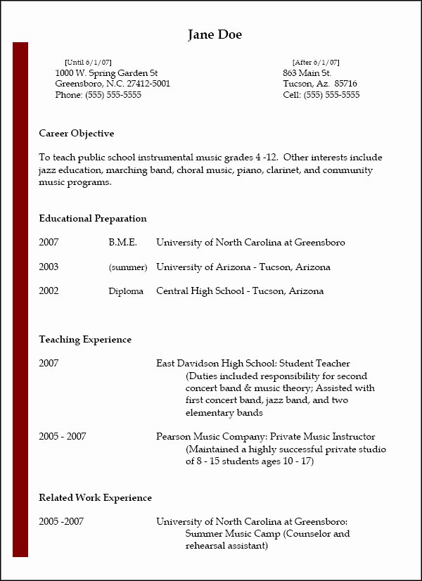 Resumes National association for Music Education Nafme