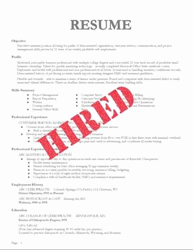 resumes that you hired