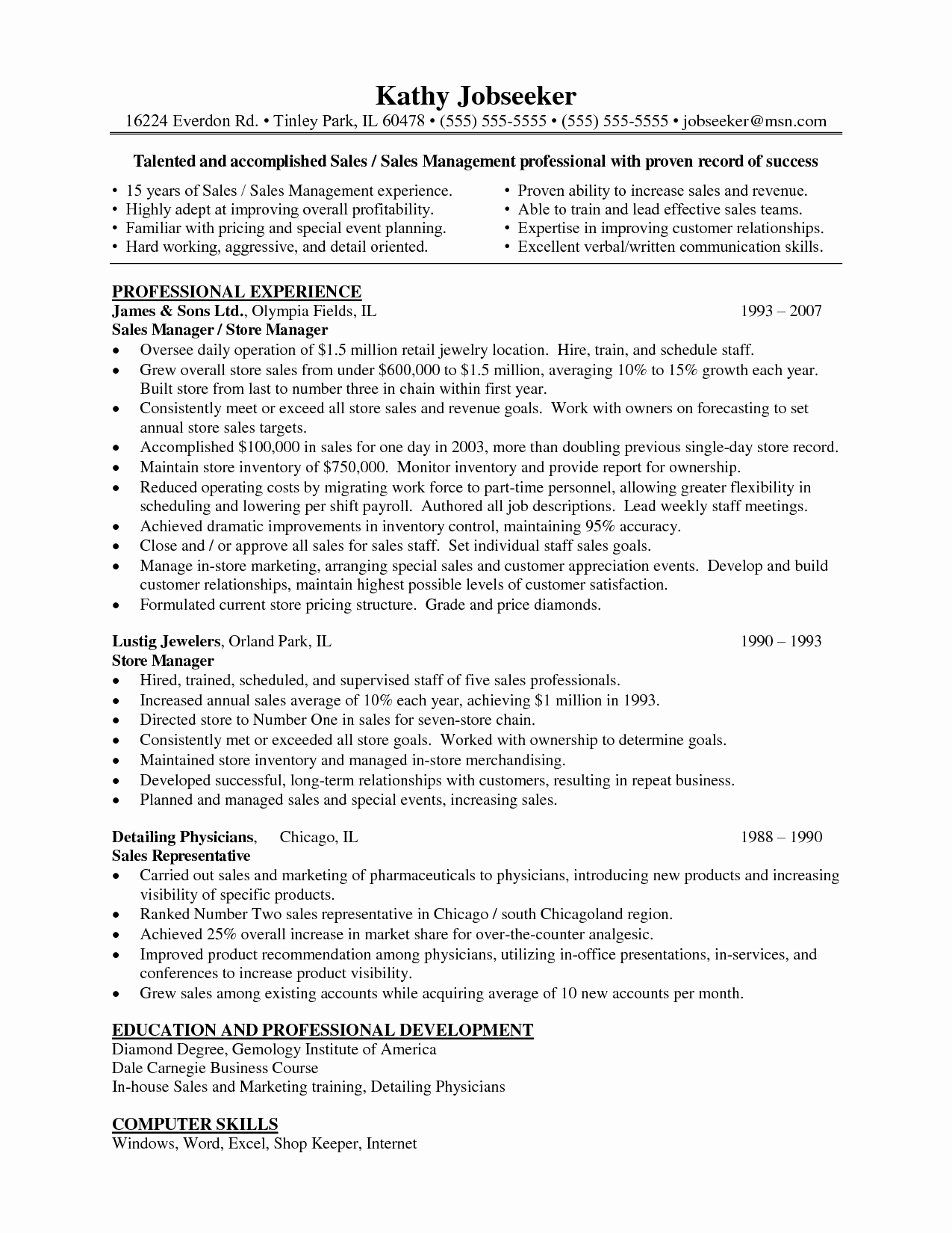 Retail assistant Manager Resume Objective Examples