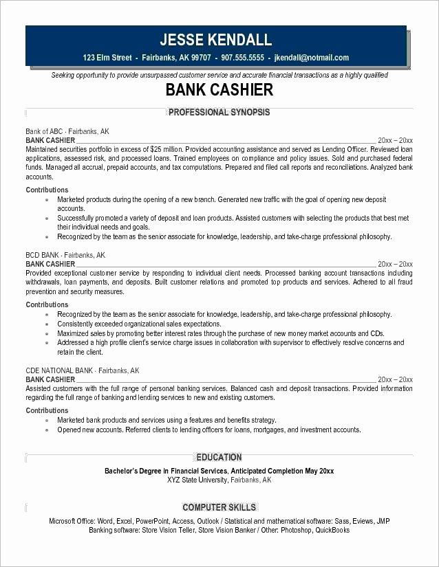 Retail Cashier Job Description for Resume Best Resume
