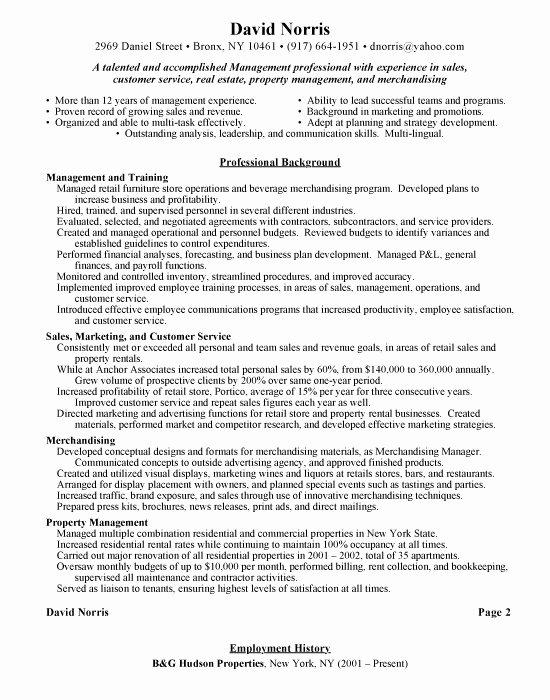 Retail Management Free Resumes Free Resumes