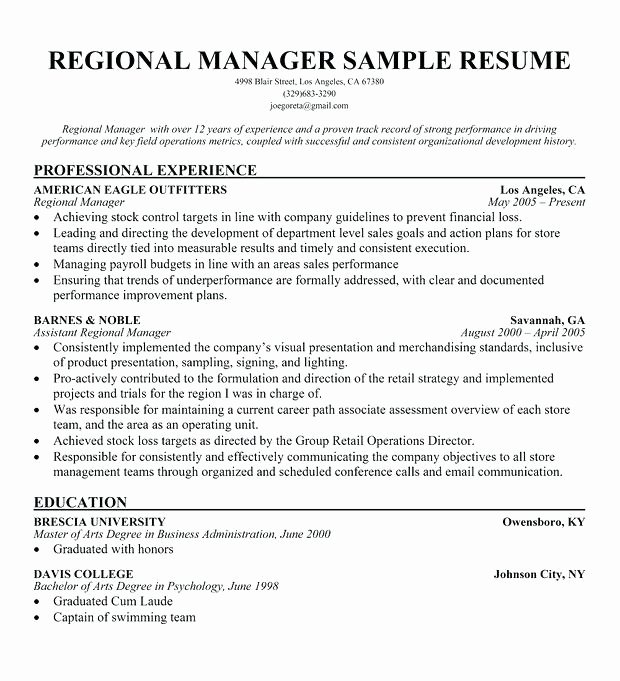 Retail Manager Resume Examples Retail Manager Resume