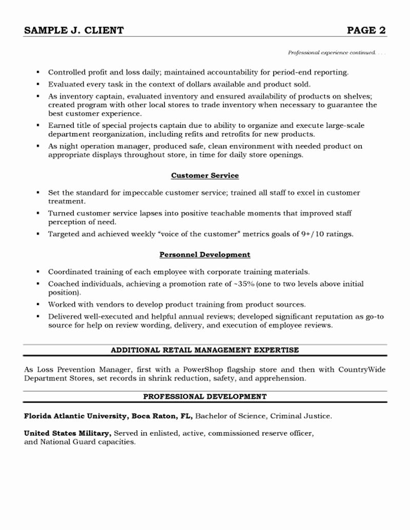 Retail Operations and Sales Manager Resume