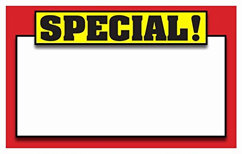 """Retail Sale Signs Template 5 5""""x3 5"""" Blank Sale Price"""
