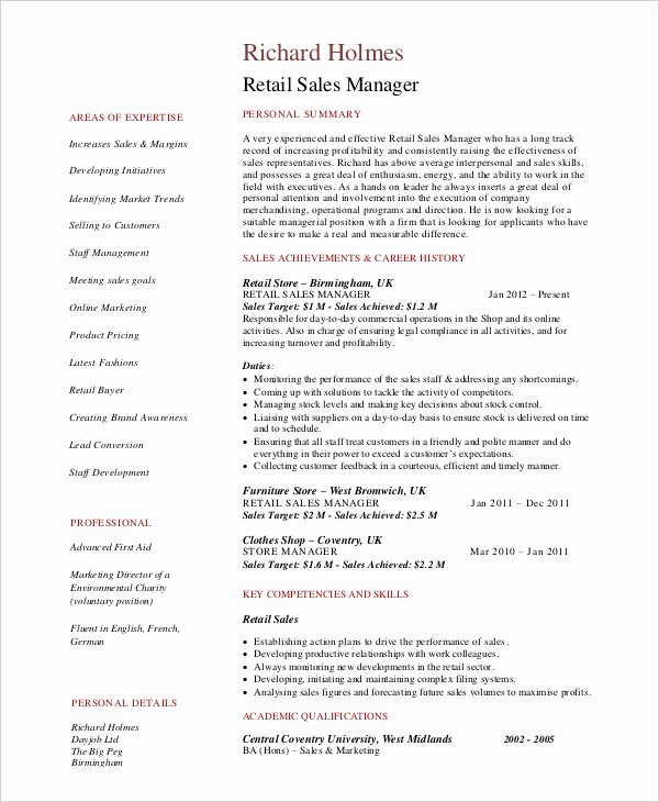 Retail Store Manager Resume Pdf 7 Fantastic Vacation Ideas