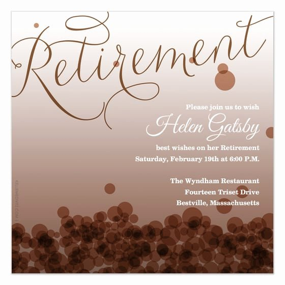 Retirement Card Invitation Template