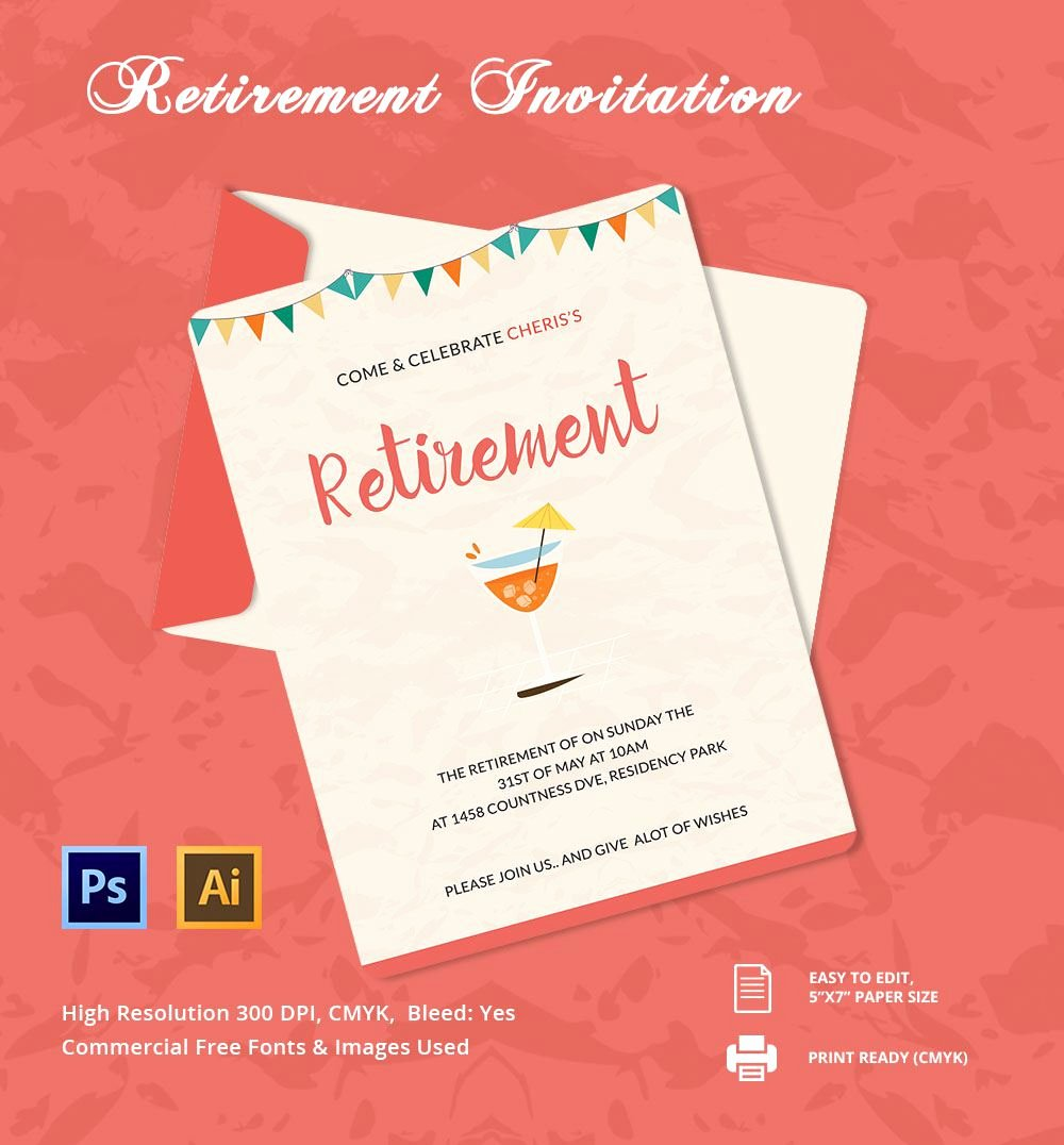 Retirement Invitation Template Retirement Party