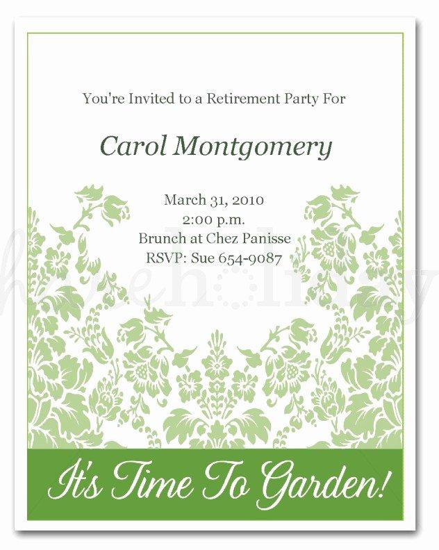 Retirement Invitations Samples