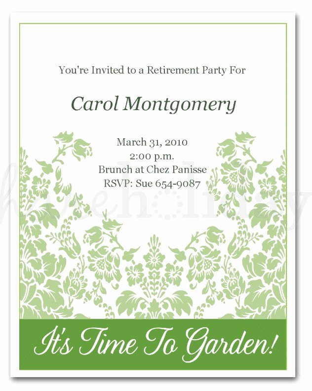 Retirement Invitations Samples