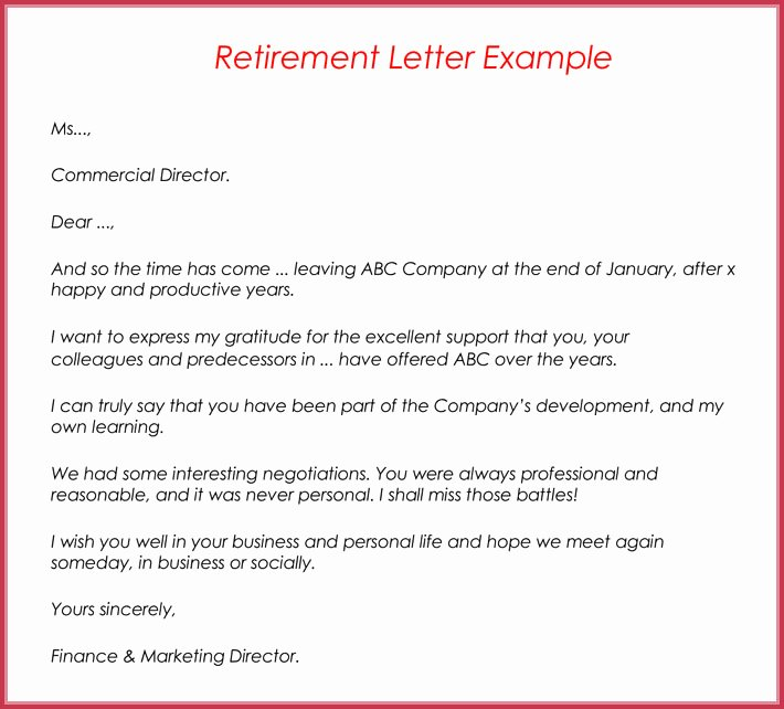 Retirement Letter Samples Examples formats & Writing Guide