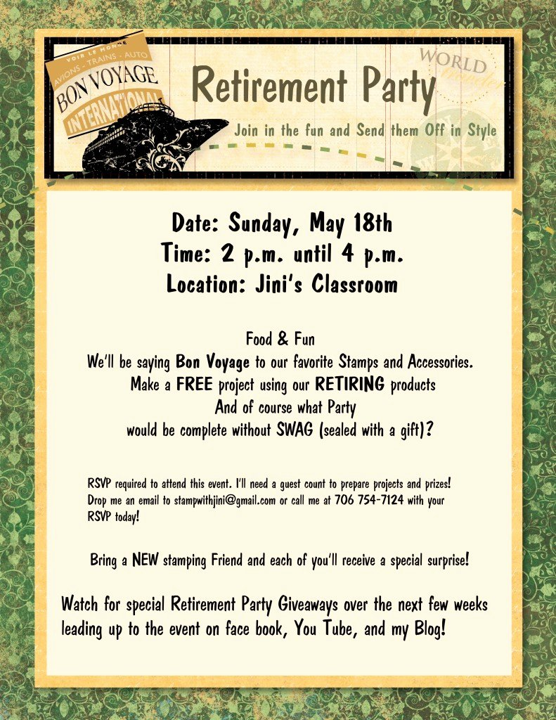 Retirement Party & Giveaways