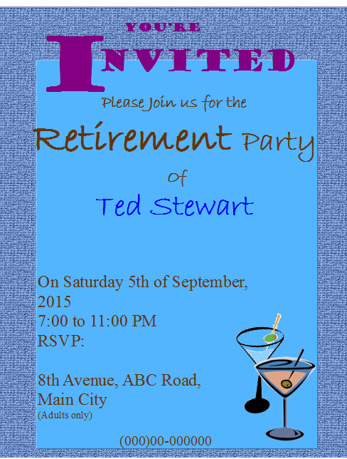 Retirement Party Flyer Invitation