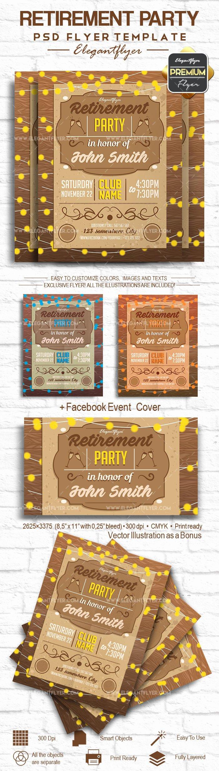 Retirement Party – Flyer Psd Template – by Elegantflyer