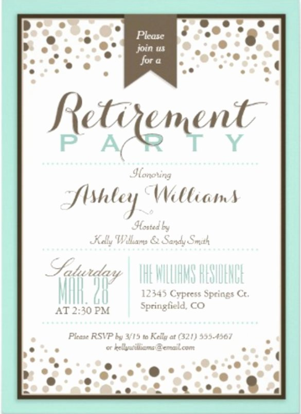 Retirement Party Flyer Templates You Can Edit