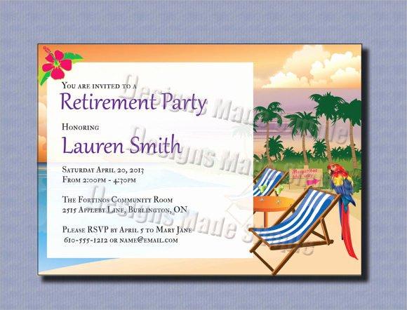 Retirement Party Invitation 7 Premium Download