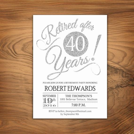 Retirement Party Invitation Retirement Invite Printable