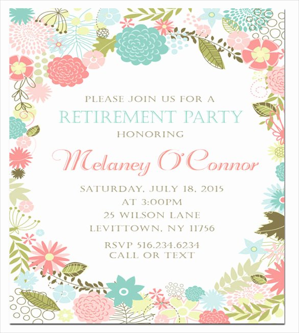 Retirement Party Invitation Template – 36 Free Psd format