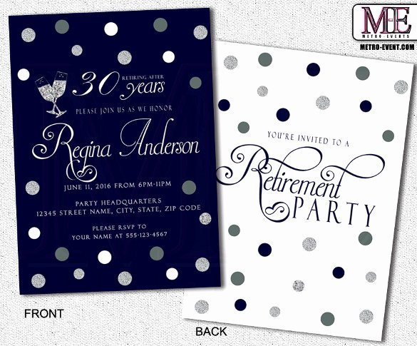 Retirement Party Invitation Template 36 Free Psd format