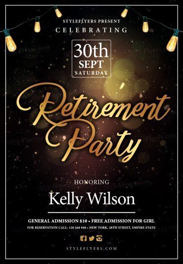 Retirement Psd Flyer Template Styleflyers