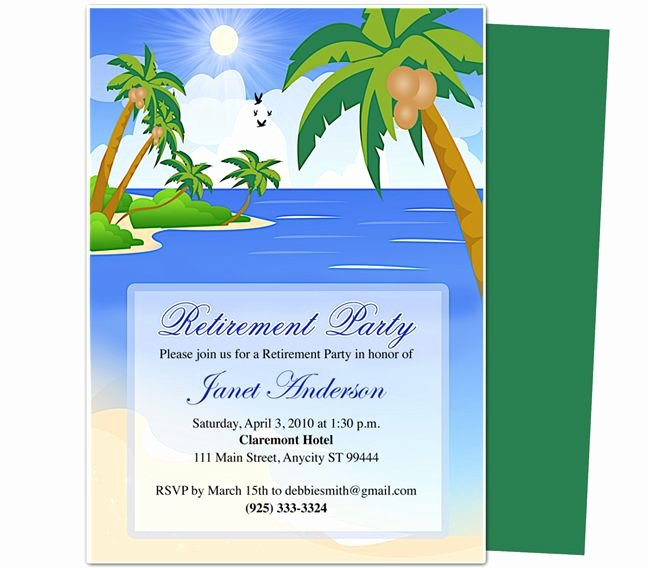Retirement Templates Paradise Retirement Party