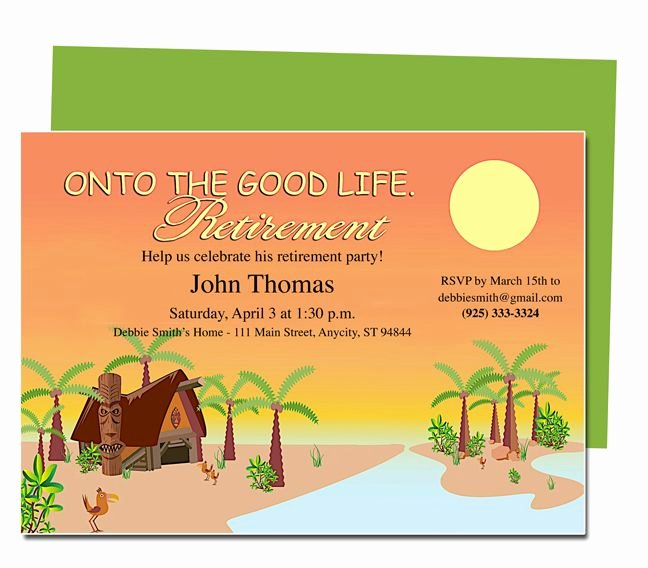Retirement Templates Tropicana to the Good Life