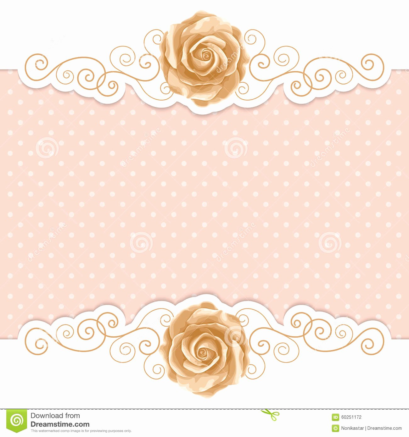 Retro Background with Roses Stock Vector Image