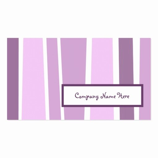 Retro Stripes 2 Sided Double Sided Standard Business