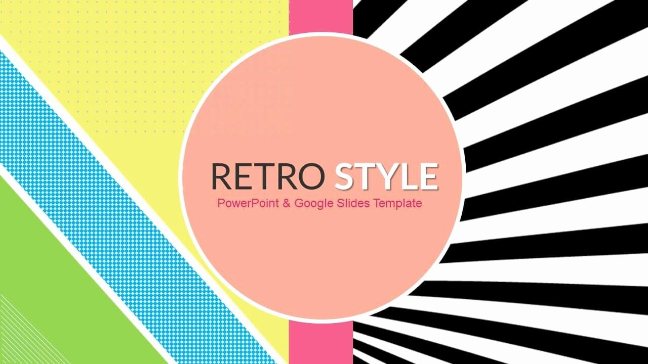 Retro Style Funky Free Powerpoint Templates & Google