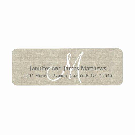 Return Address Labels & Templates