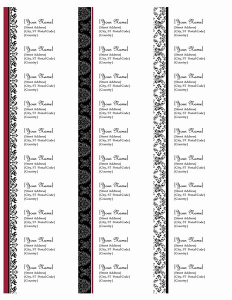 Return Address Labels Black and White Wedding Design