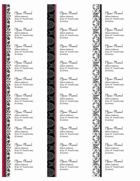 Return Address Labels Black and White Wedding Design