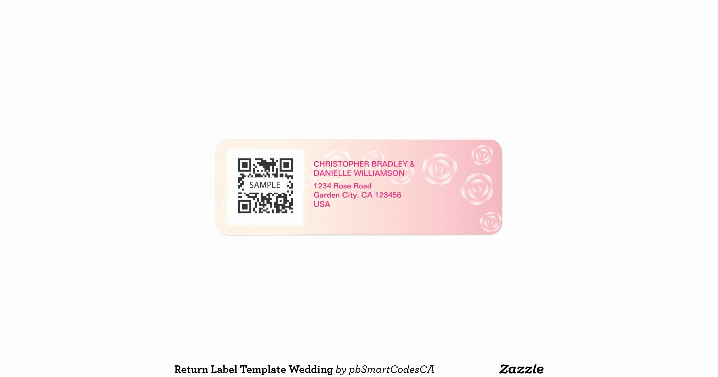 Return Label Template Wedding Return Address Label