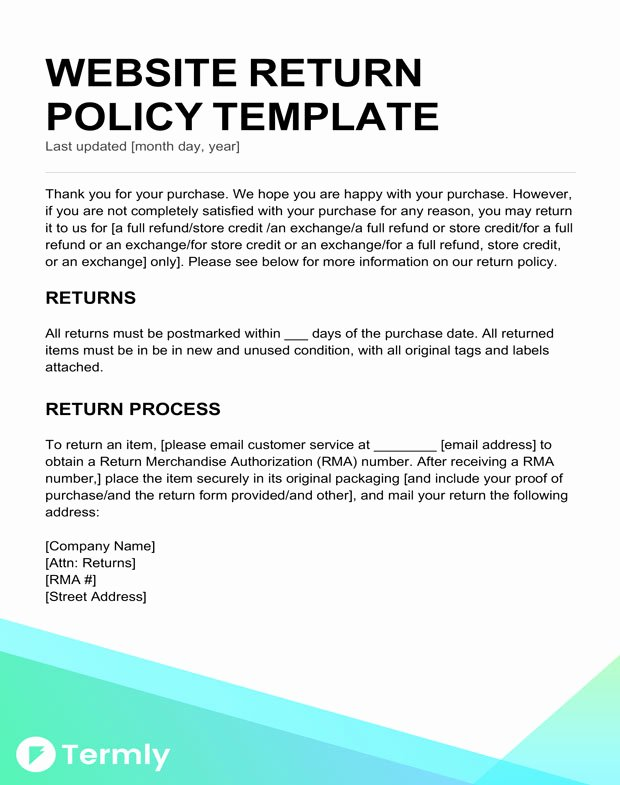 Return Policy Templates & Examples Free to Download
