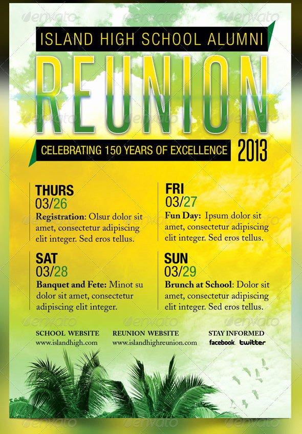 reunion flyer designs