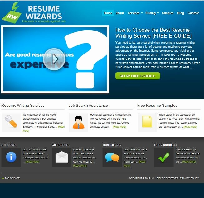 Review Of Best Resume Writing Service Resumewizards
