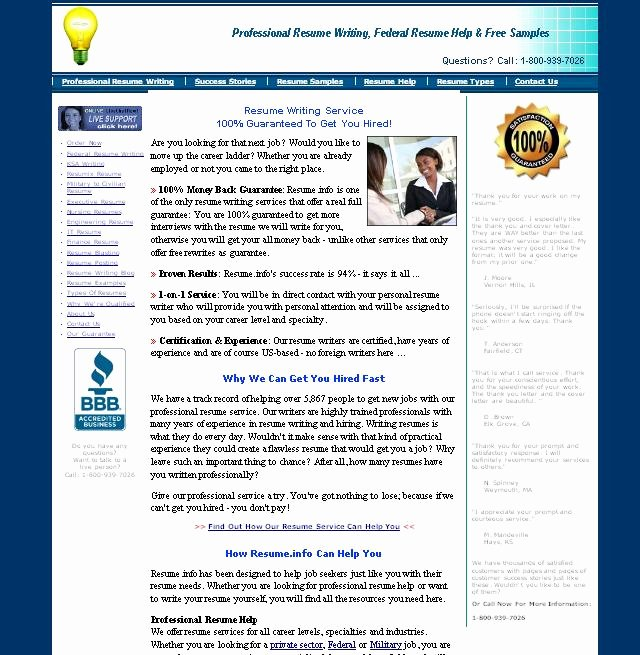 Review Of Resume Writing Service Resumefo