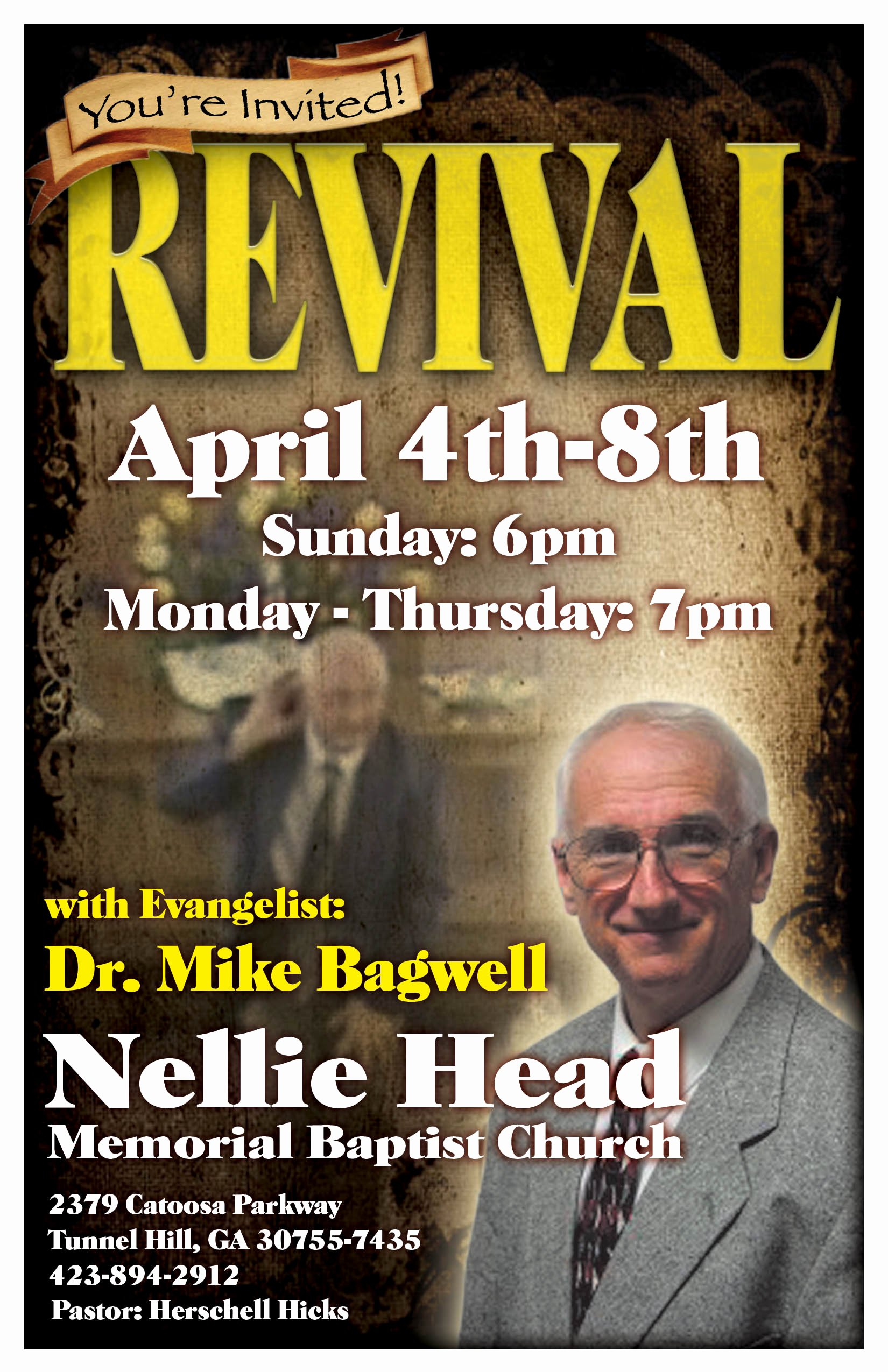 Revival Flyer Clipart Collection