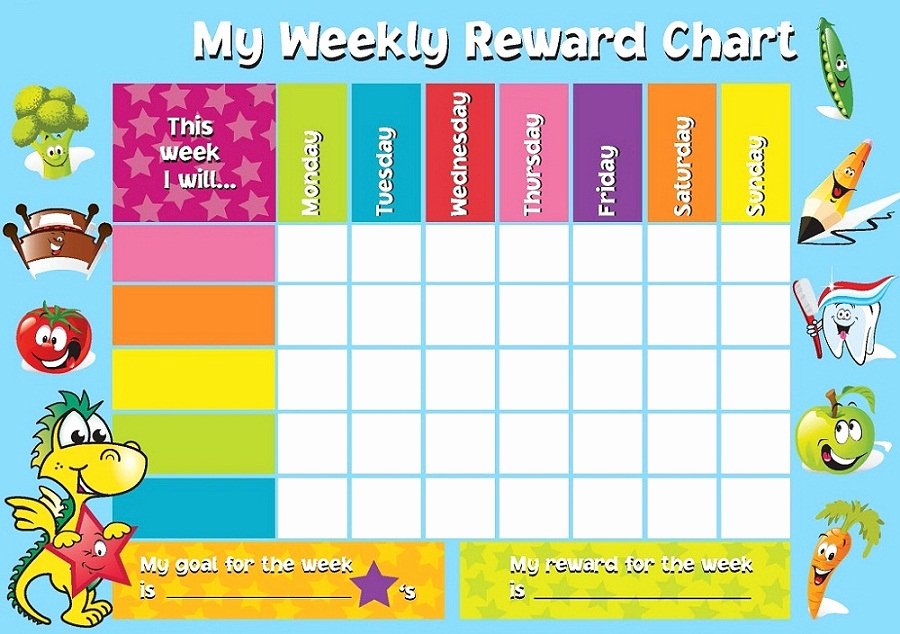 Reward Chart Template for Kids