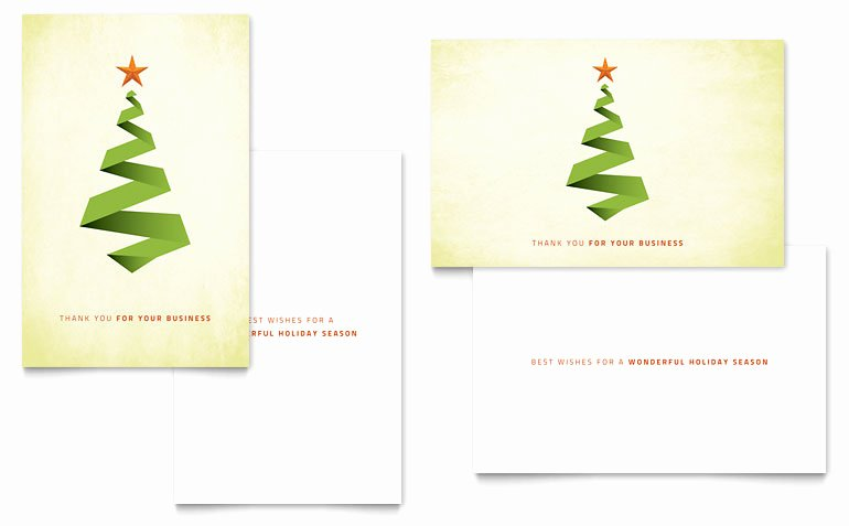 Ribbon Tree Greeting Card Template Word & Publisher