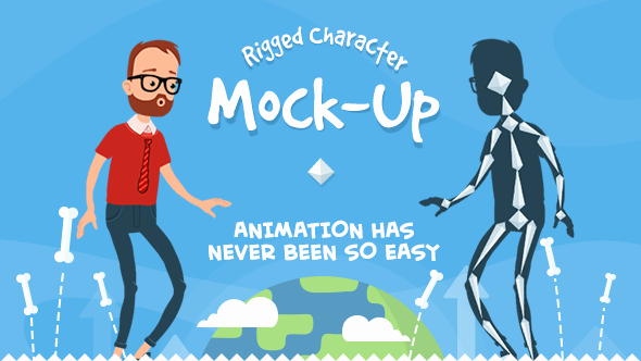 Rigmo Rigged Character Animation Mockup by Creartdesign
