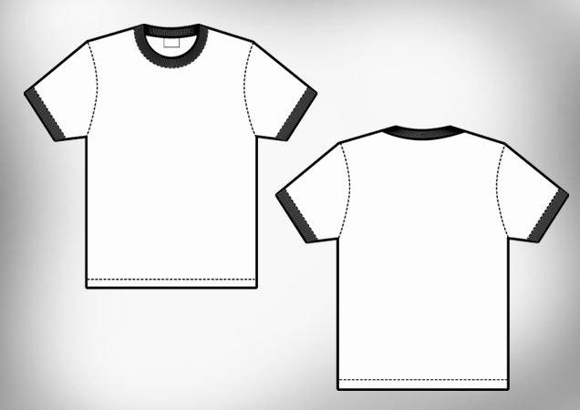 Ringer Men's T Shirt Template