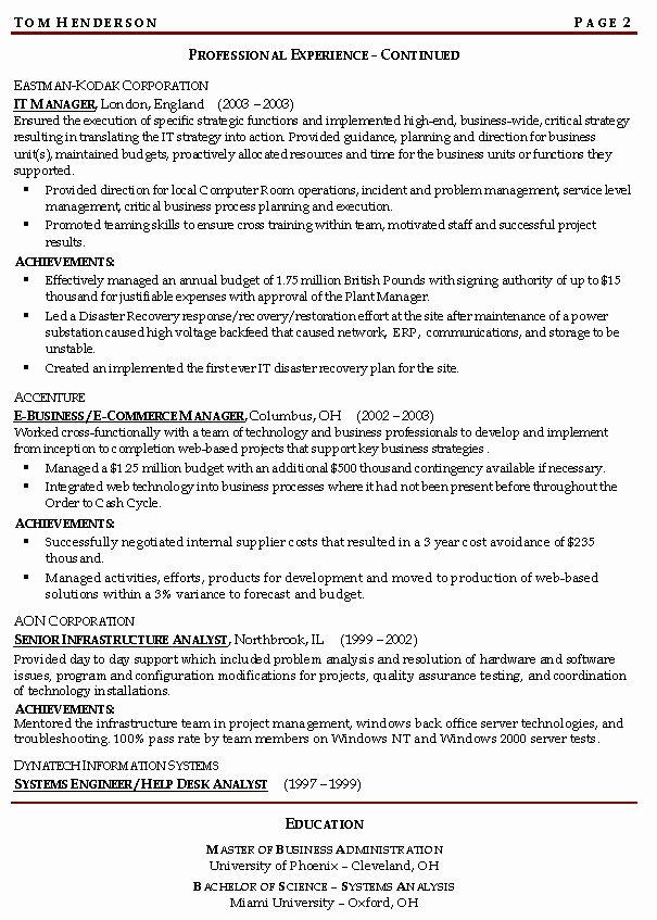 Risk Management Resume Example Sample Management Resumes