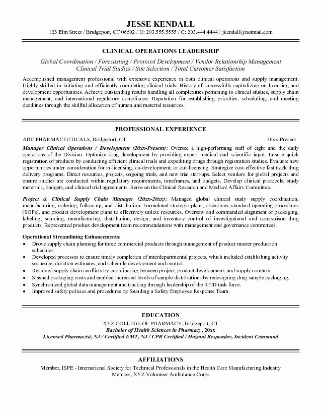 Risk Management Resume