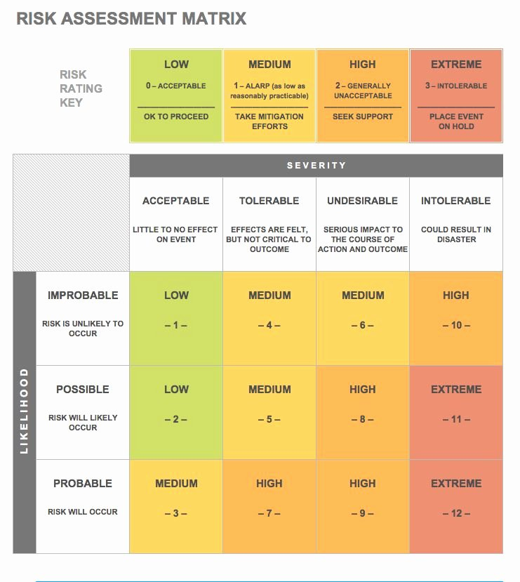 Risk Matrix Template Excel